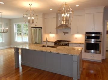 white-grey kitchen